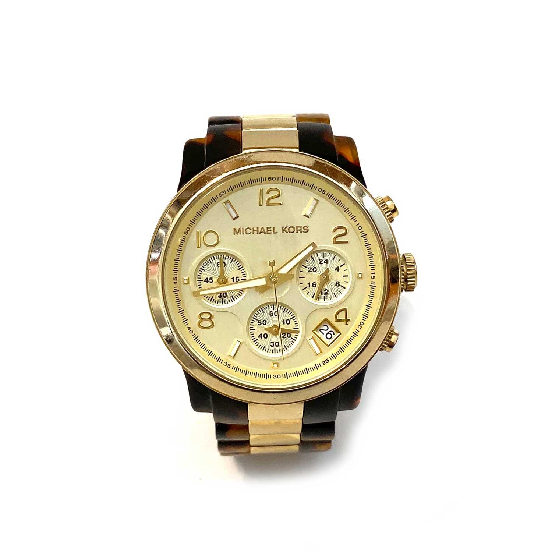 Relógio Michael Kors Tartaruga e Dourado