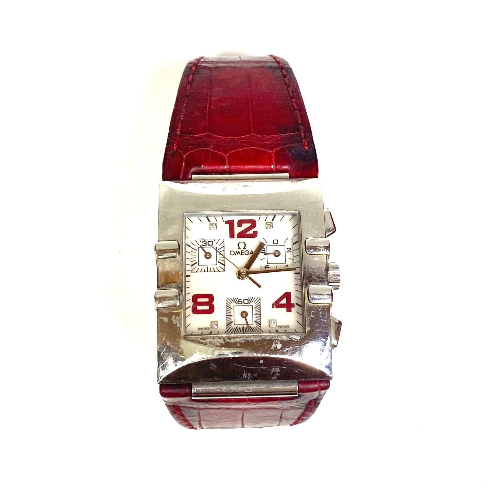 Relógio Omega Quadra Constellation Vinho