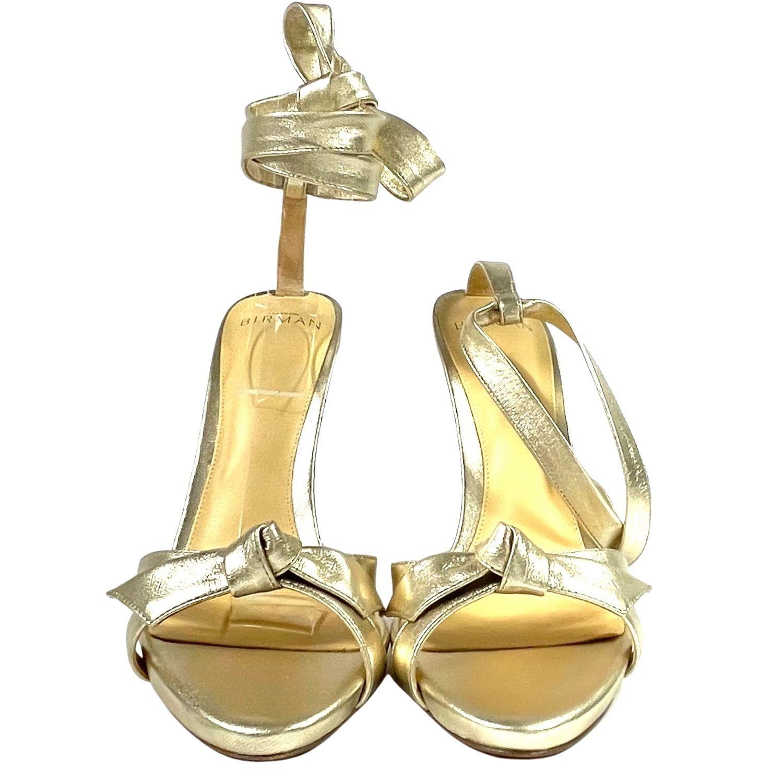Sandália Alexandre Birman Nó Dourada
