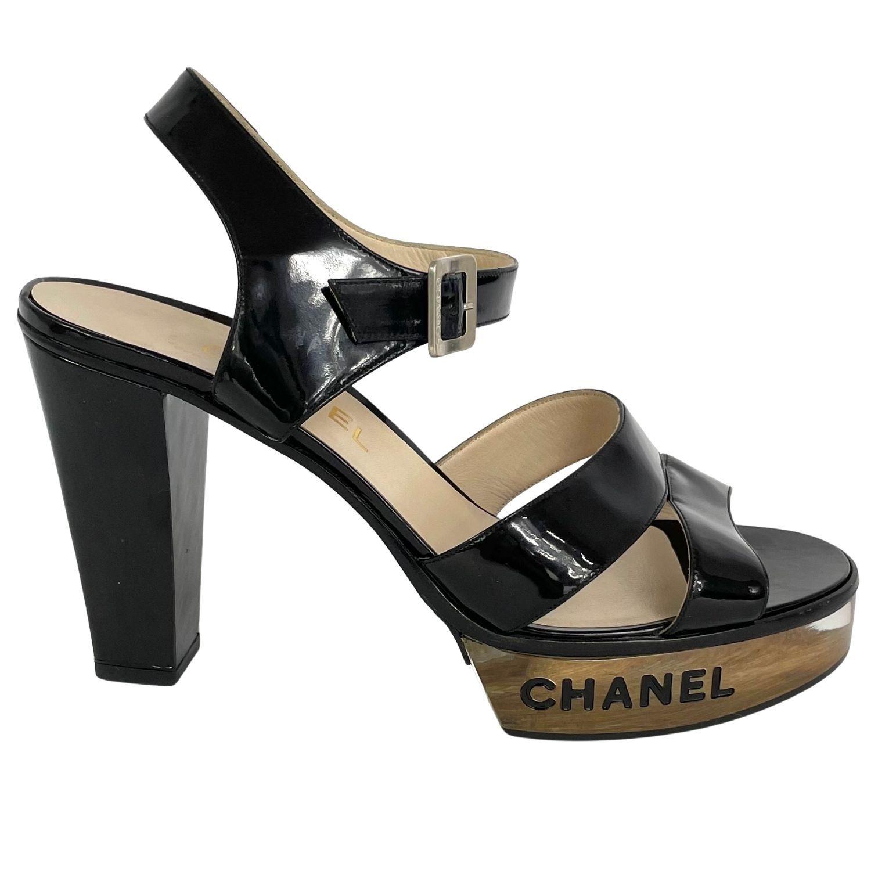 Sandália Chanel Lucite