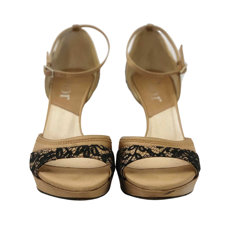 Sandália Dior Lace Trim Embellishment D'Orsay