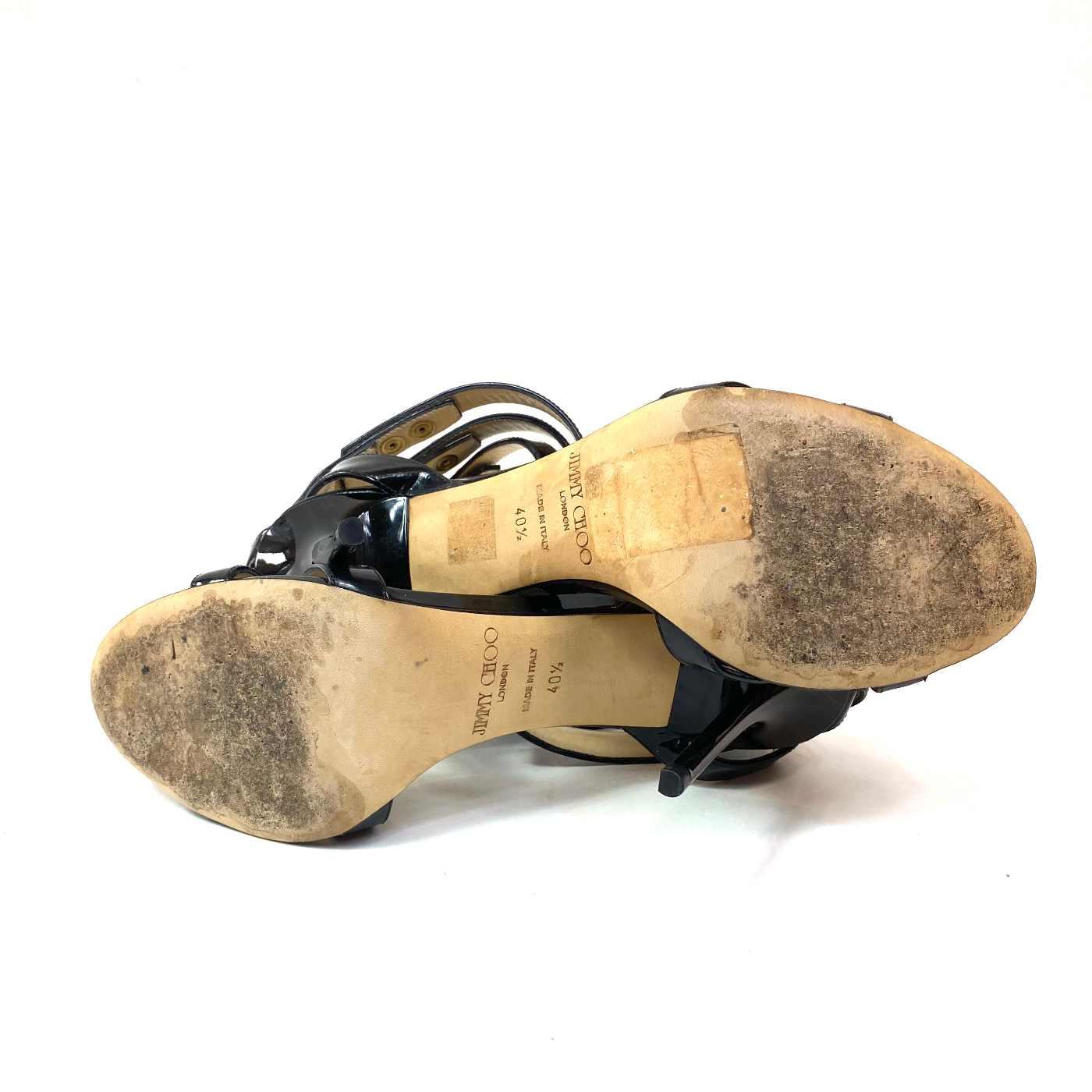 Sandália Jimmy Choo Gladiador Verniz Preta
