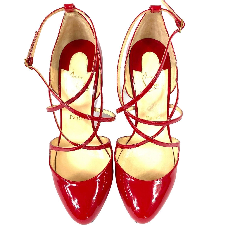 Sandália Louboutin Verniz Vermelha