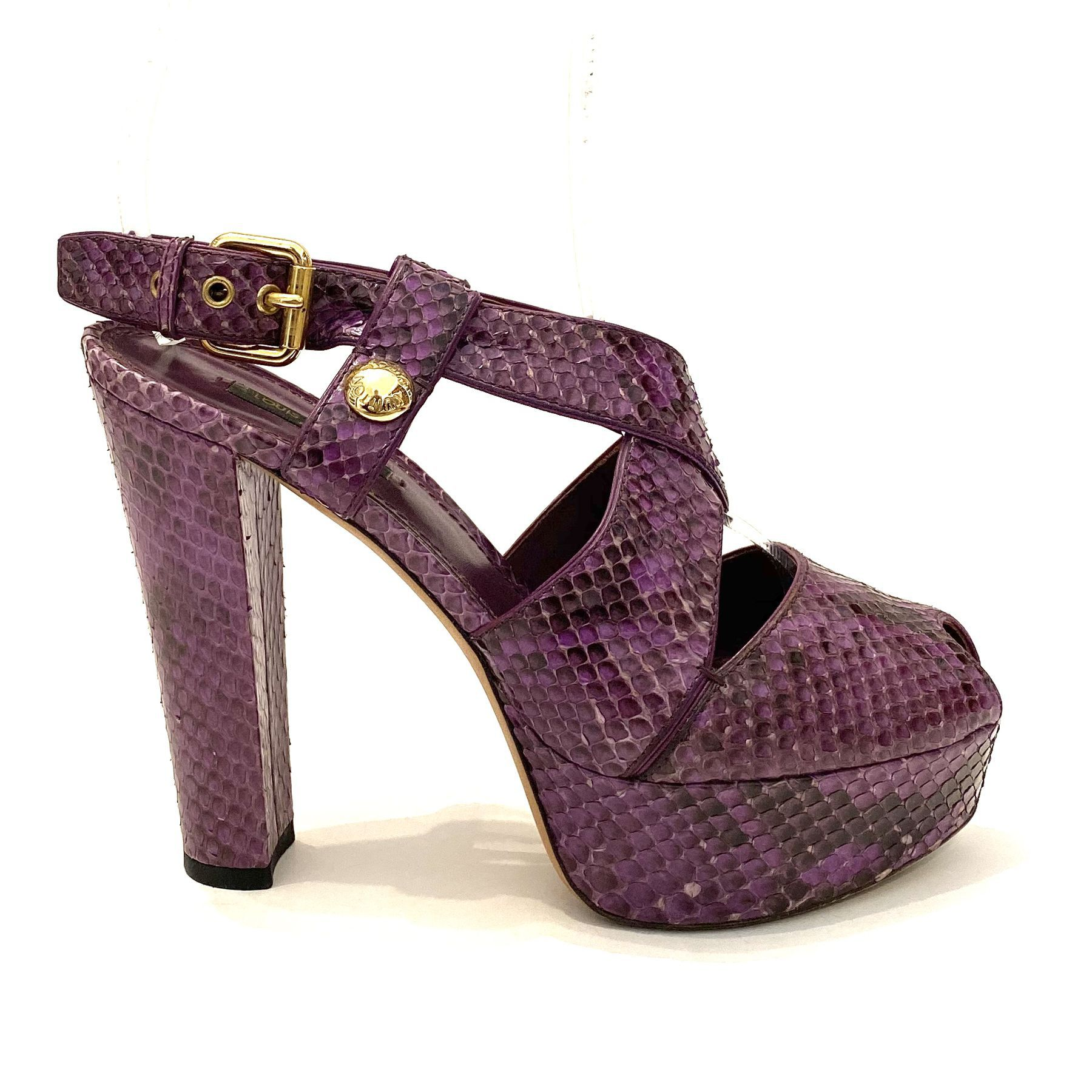 Sandália Louis Vuitton Cobra Roxo