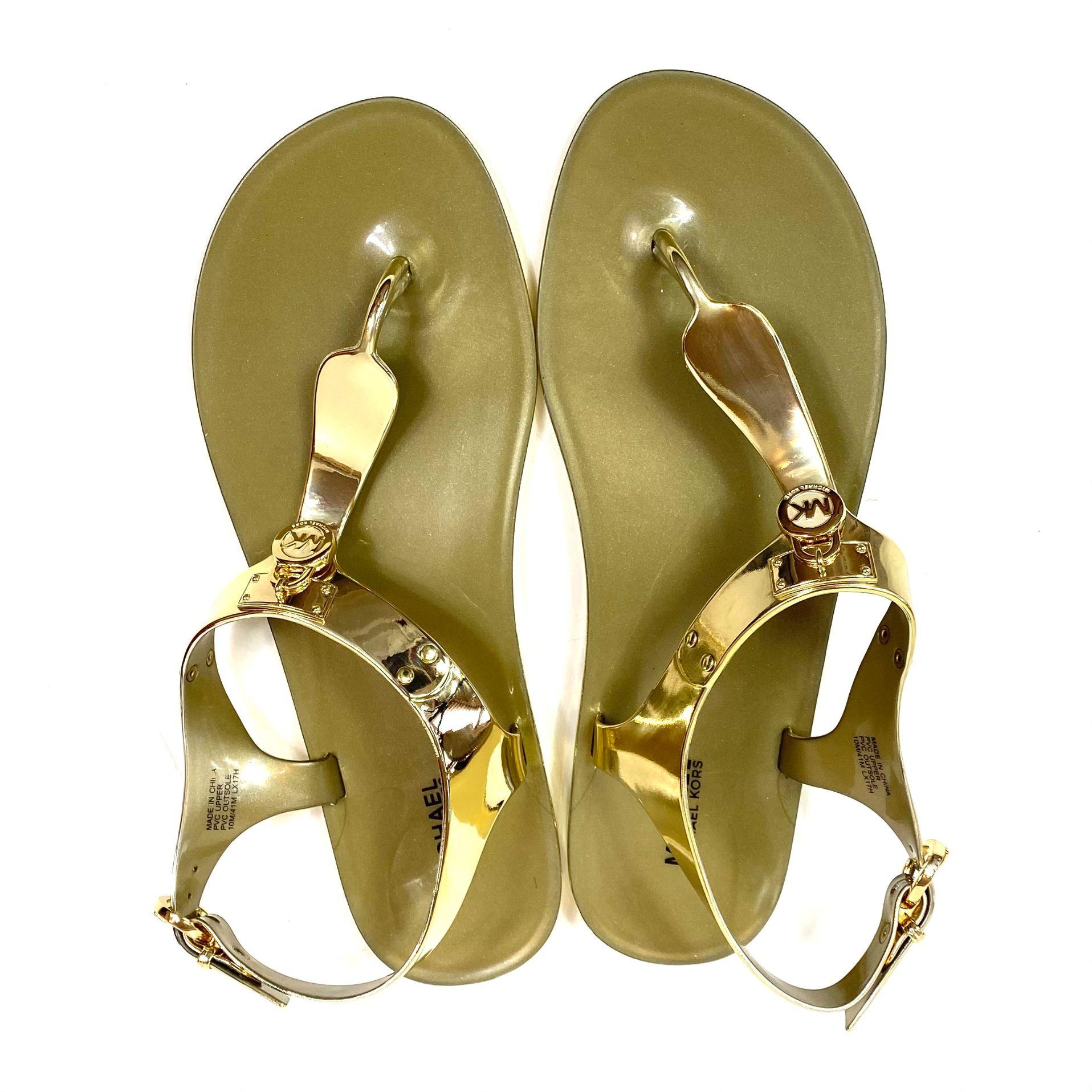Sandália Michael Kors Gold