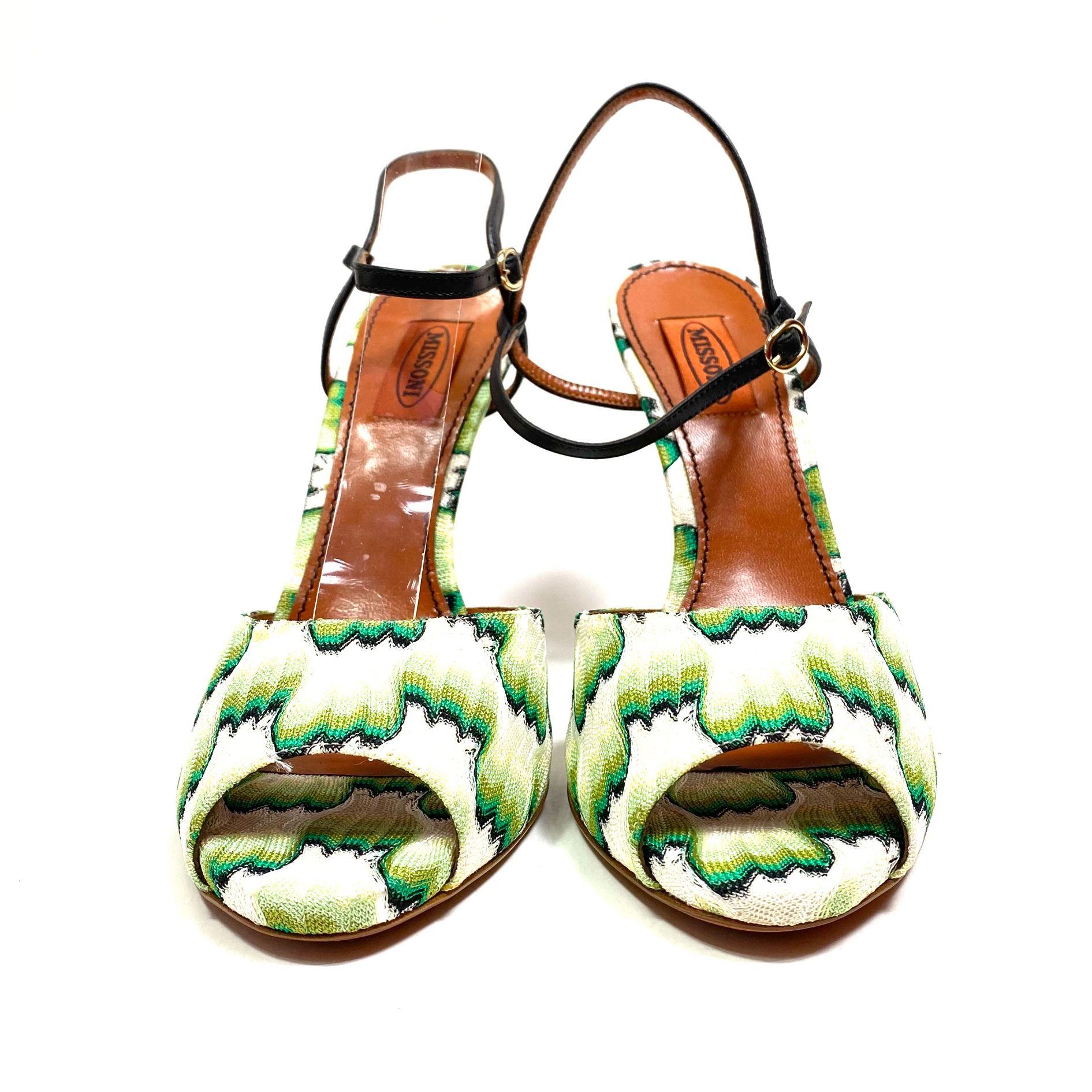 Sandália Missoni Estampada Verde