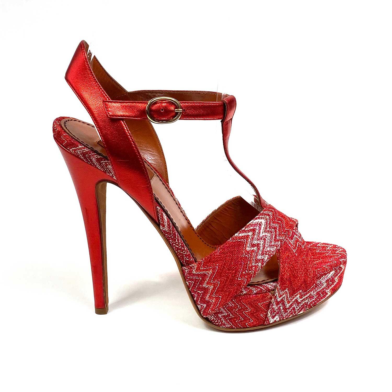 Sandália Missoni Vermelha