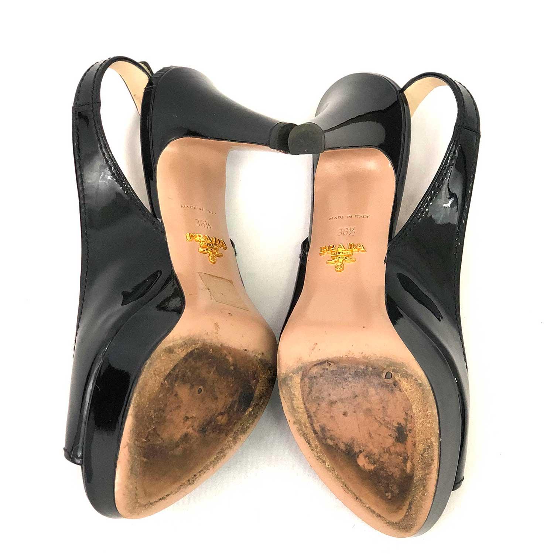 Sandália Prada Verniz Preta
