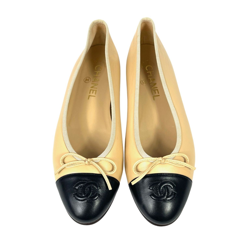 Sapatilha Chanel Ballerina Cap Toe