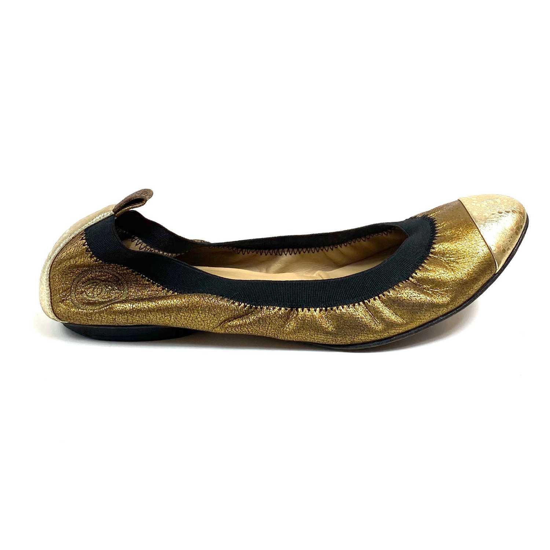 Sapatilha Chanel Dourada