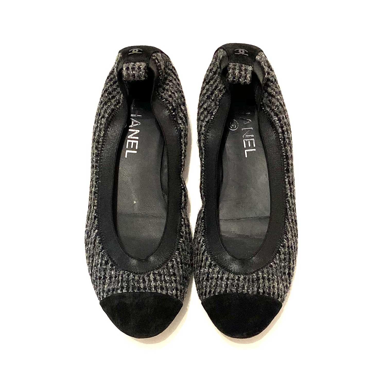 Sapatilha Chanel Tweed Preta