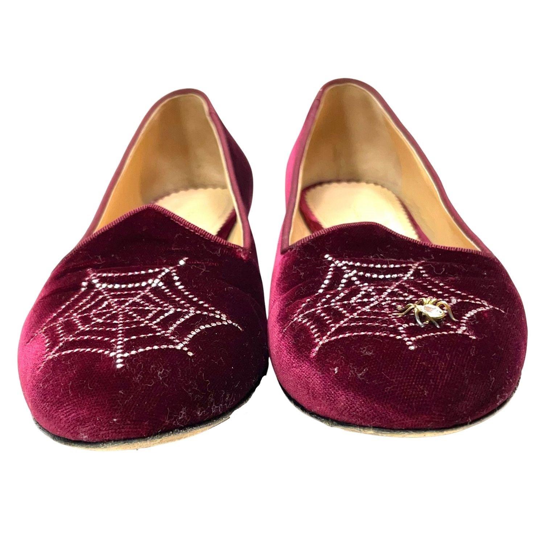 Sapatilha Charlotte Olympia Spider Vinho