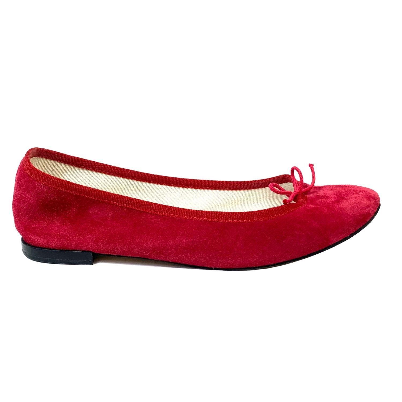 Sapatilha Repetto Camurça Vermelha