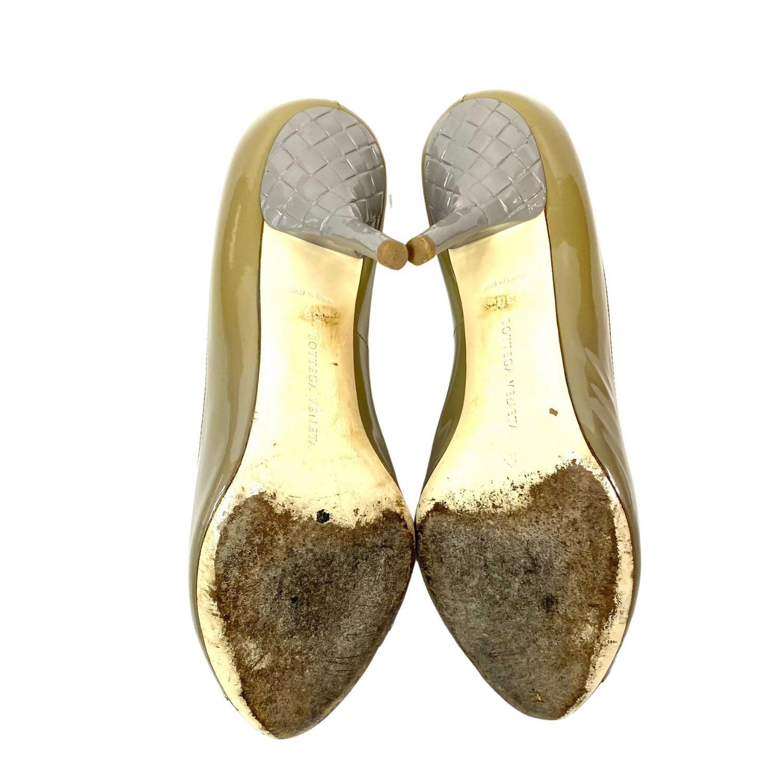Sapato Bottega Veneta Verniz Beige