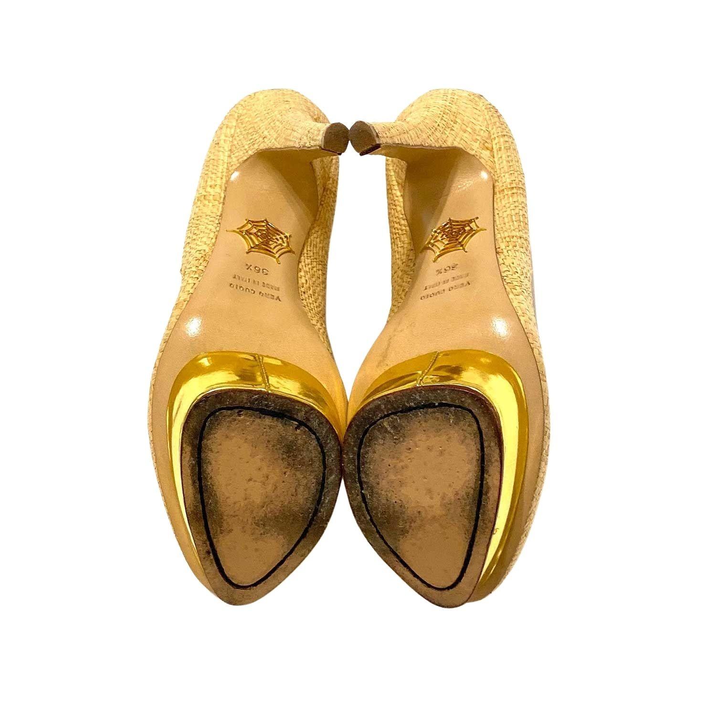 Sapato Charlotte Olympia Dolly Palha