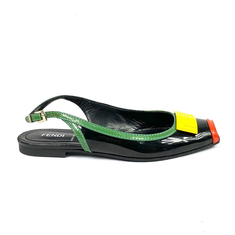 Sapato Fendi Peeptoe Colorido
