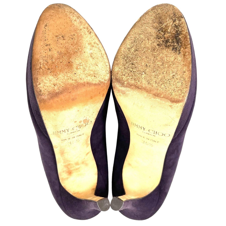 Sapato Jimmy Choo Suede Roxo