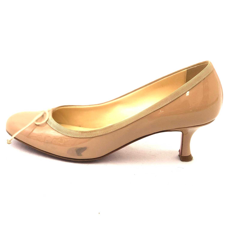 Sapato Loubotin Pump Verniz Nude