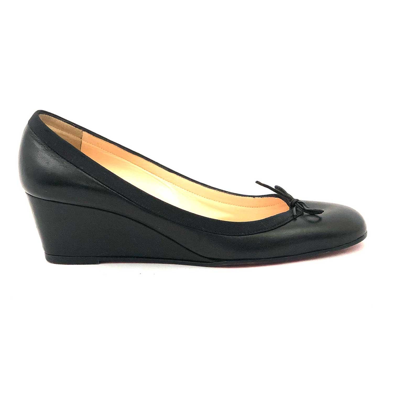 Sapato Louboutin Anabela Preto