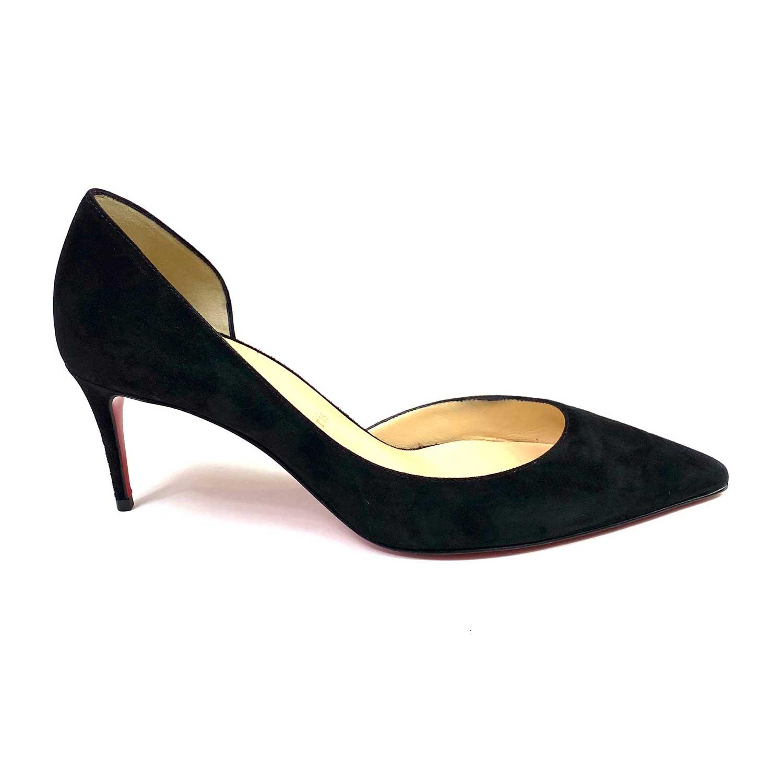 Sapato Louboutin Camurça Preto