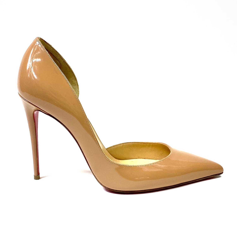 Sapato Louboutin Iriza Verniz Beige