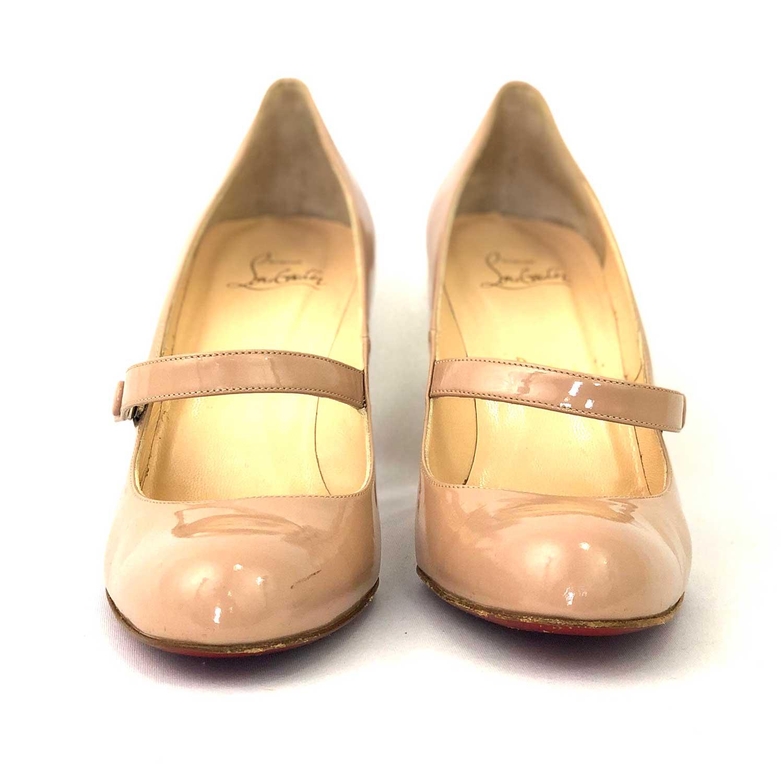 Sapato Louboutin Mary Jane Nude