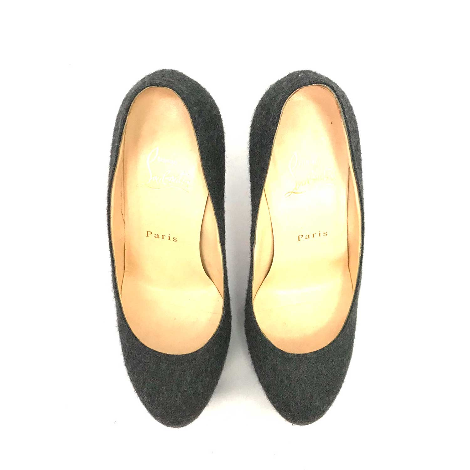 Sapato Louboutin New Simple Pump Cinza