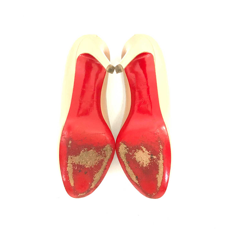 Sapato Louboutin Simple Nude Verniz