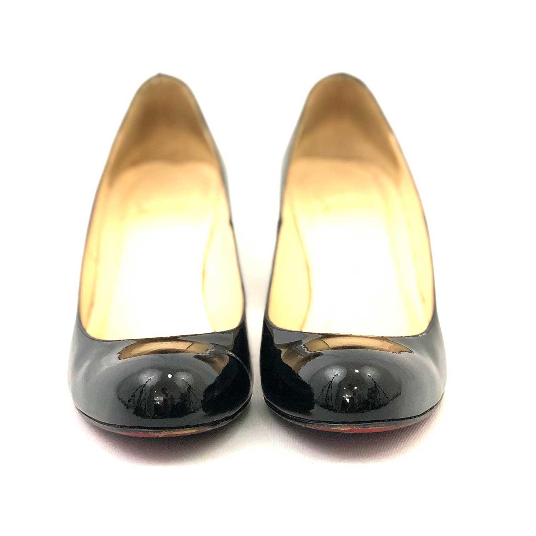 Sapato Louboutin Simple Preto Verniz