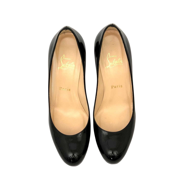 Sapato Louboutin Simple Pump Preto Verniz
