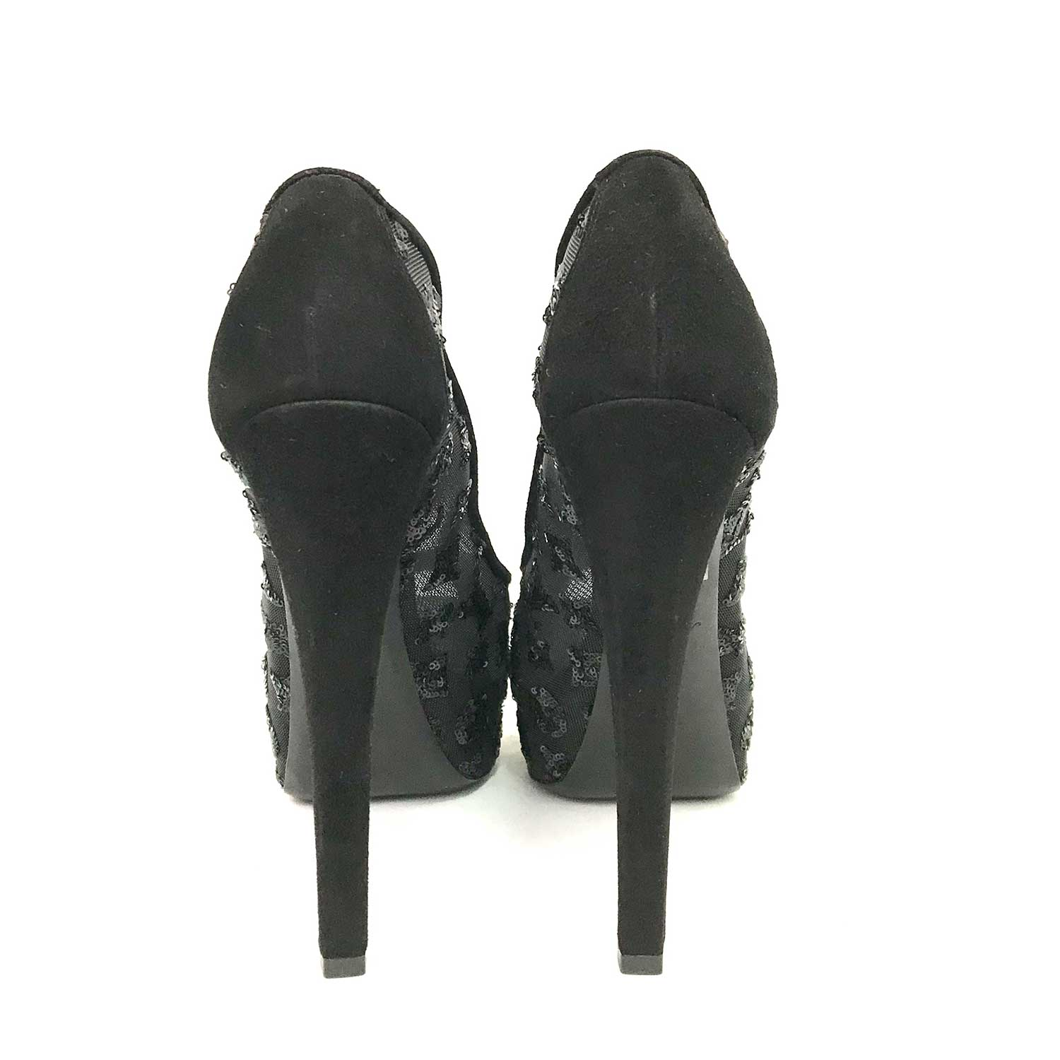 Sapato Peep Toe Louis Vuitton Preto