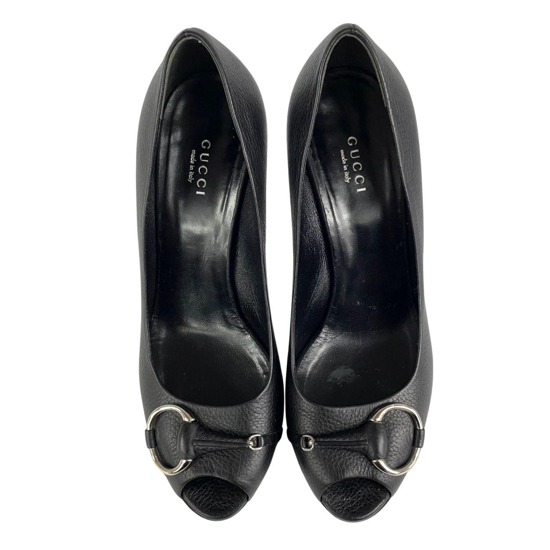 Sapato Peep Toe Gucci Horsebit