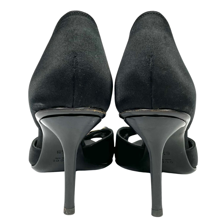 Sapato Peep Toe Gucci Horsebit Embellishments D'Orsay