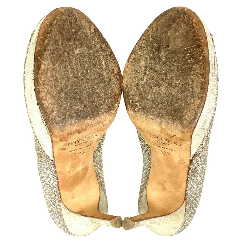 Sapato Peep Toe Jimmy Choo Brilhante