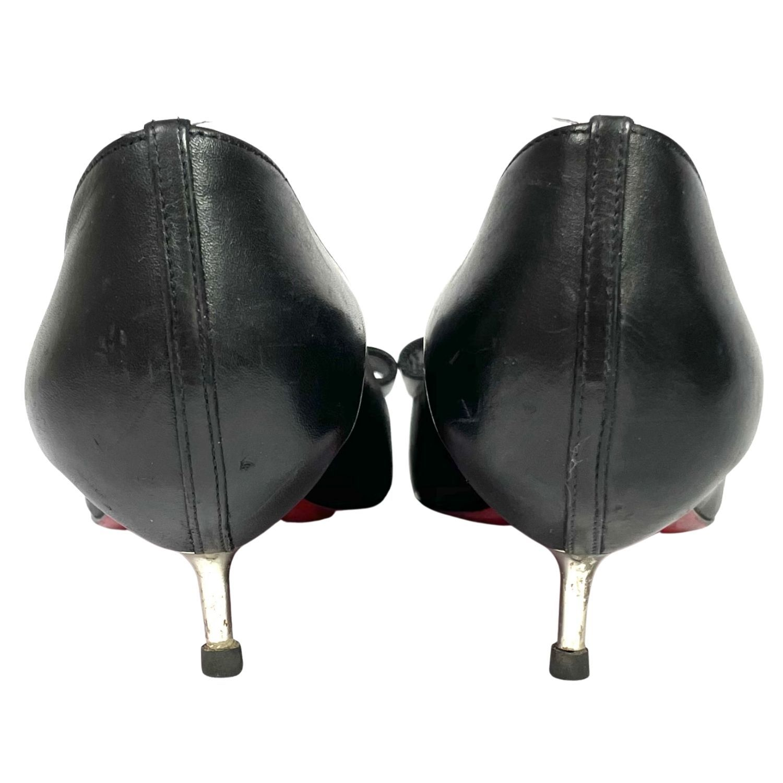 Sapato Peep Toe Louboutin Laço