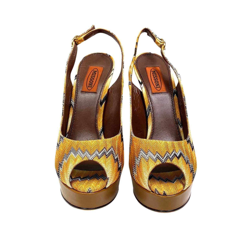 Sapato Peep Toe Missoni Amarelo