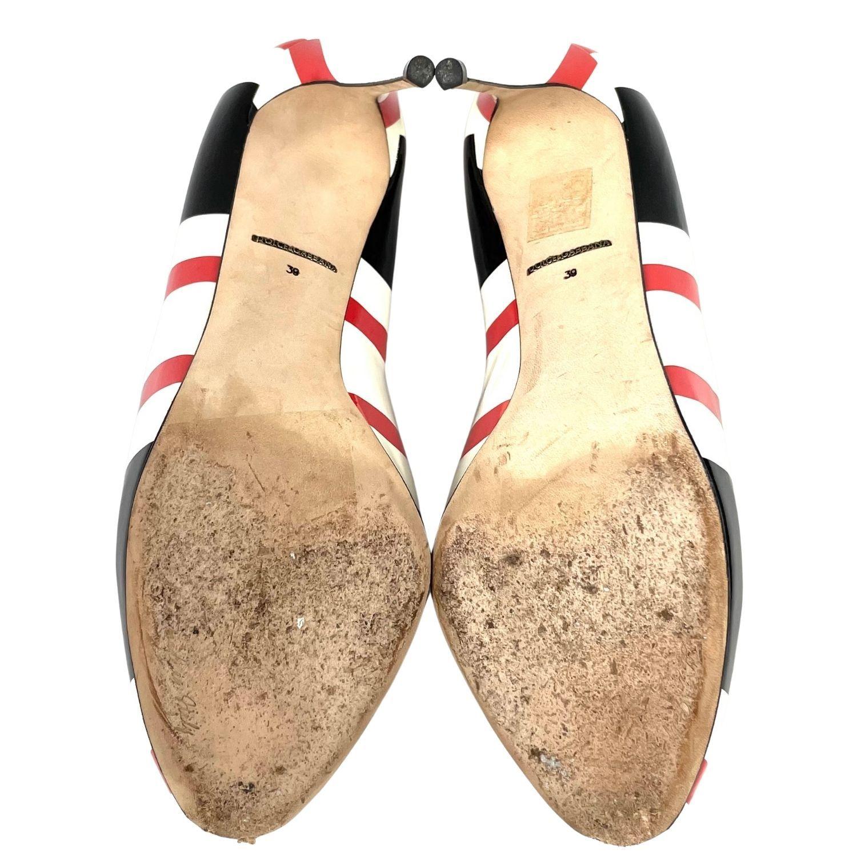 Sapato Peeptoe D&G Listrado