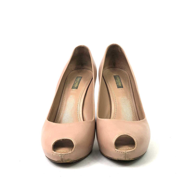 Sapato Peeptoe Louis Vuitton Nude