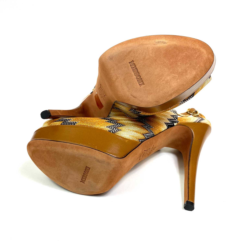 Sapato Peeptoe Missoni Amarelo