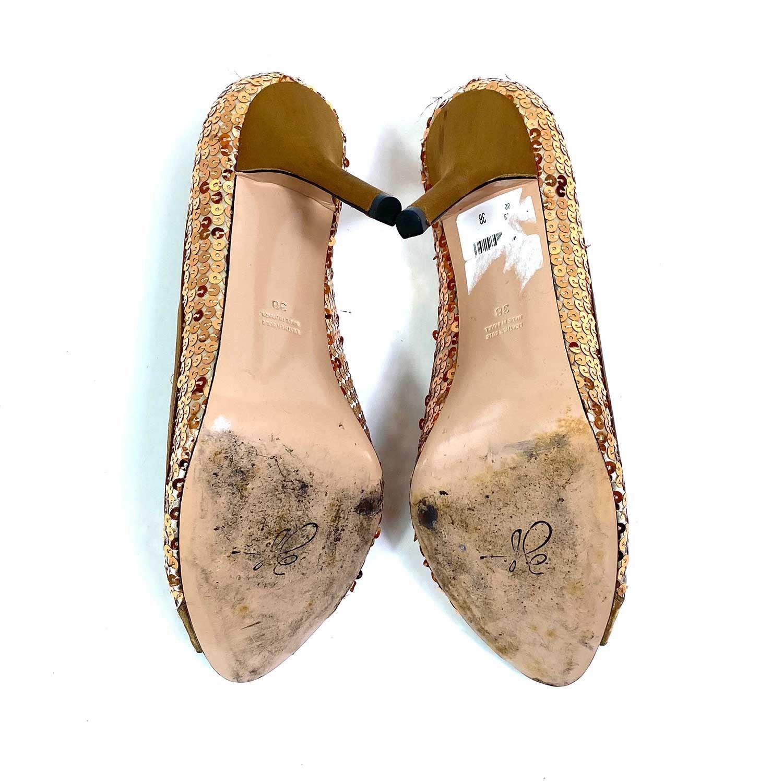 Sapato Peep Toe Zeferino Pink Label Cobre