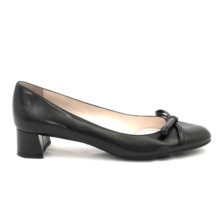e42ab8893 Sapato Prada Preto Laço