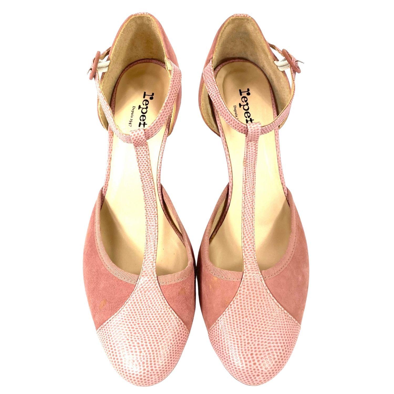 Sapato Repetto Camurça Rosé