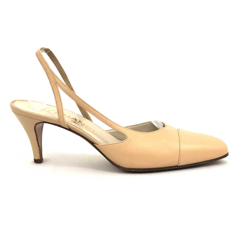 Sapato Chanel Beige