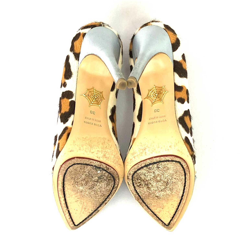 Sapato Scarpin Charlotte Olympia Onça e Azul