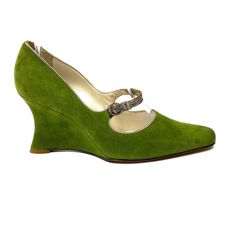 Sapato Scarpin Christian Dior Verde
