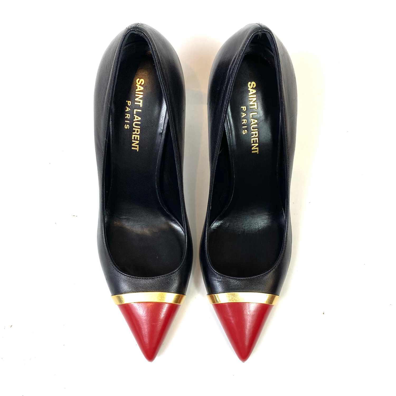 Sapato Scarpin Saint Laurente Bicolor