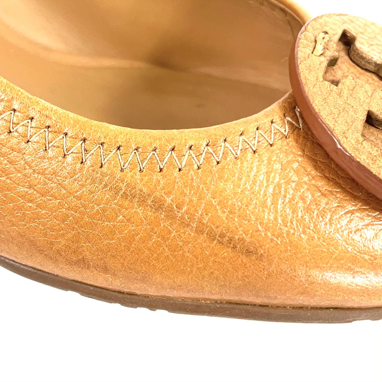 Sapato Tory Burch Logo Caramelo