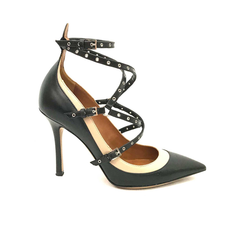 Sapato Valentino Preto e Nude