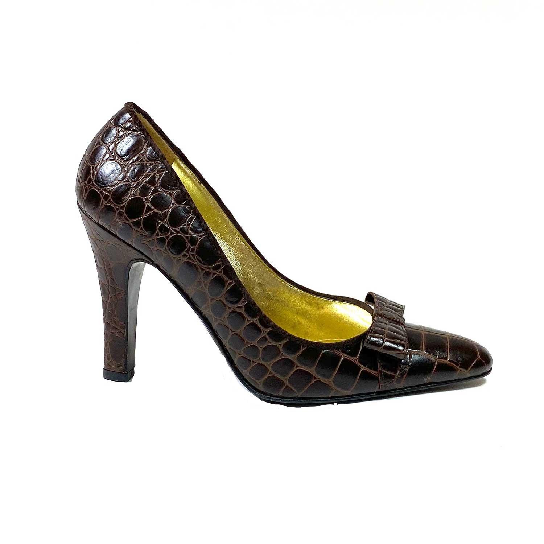 Scarpin Dolce & Gabbana Marrom Croco