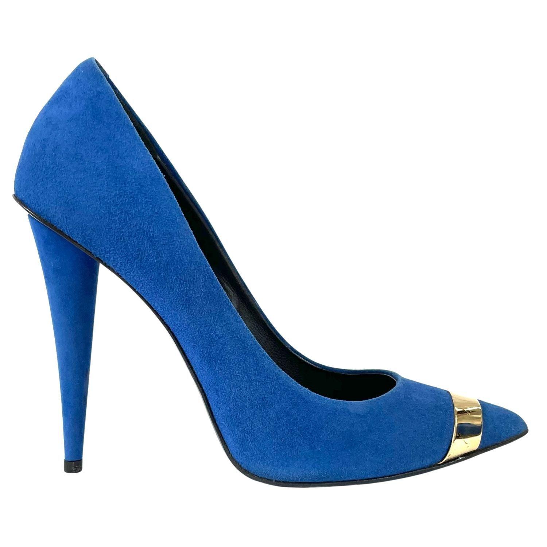 Scarpin Giuseppe Zanotti Suede Azul